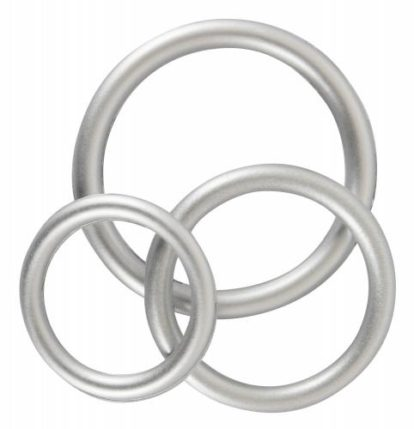 Silicone Cock Ring Set - Metallic-You2Toys