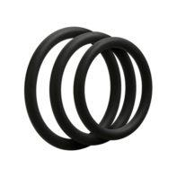 3 C-Ring Set - Thin - Black-Doc Johnson