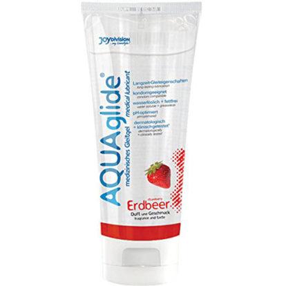 AQUAglide Strawberry Lubricant - 100 ml-Joydivision