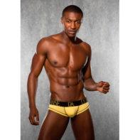 Mens Briefs - Yellow-Doreanse