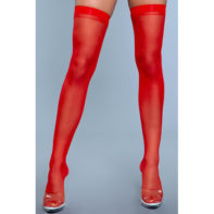 Best Behavior Thigh Highs - Red-Be Wicked