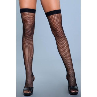 Nylon Fishnet Thigh Highs-Be Wicked