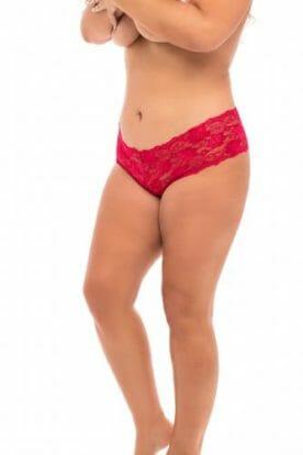 Crotchless Lace Briefs - Curvy-OhLaLa Cheri