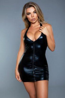 Yara Mini Corset Dress - Black-Be Wicked