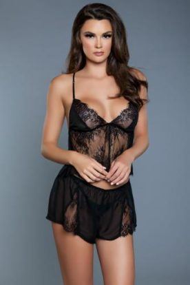 Clementine 2-Piece Set - Black-Be Wicked