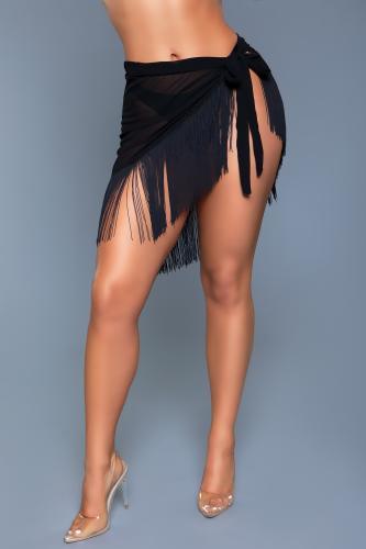 Vania Wrap Skirt - Black-Be Wicked Swimwear