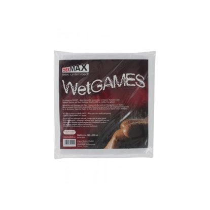 SexMAX WetGAMES Vinyl Sheet 180 x 220 cm - White-Joydivision