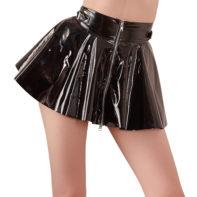 Vinyl Mini Skirt-Black Level