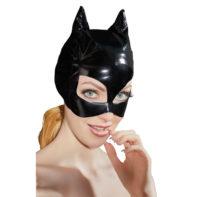 Vinyl Mask With Cat Ears-Black Level