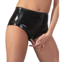 Latex Briefs With Vagina Sleeve-The Latex Collection