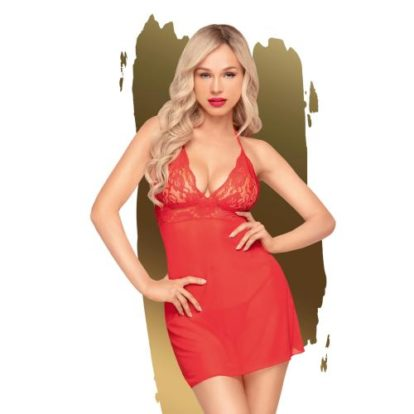 Penthouse Lingerie - Bedtime Story Negligee - Red-Penthouse