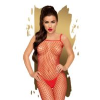Penthouse Lingerie - Search Fishnet Catsuit - Red-Penthouse