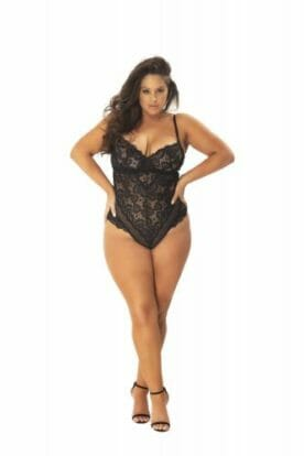 Lace Body with Eye-Catching Back - Curvy-OhLaLa Cheri