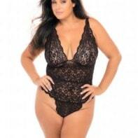 Black Lace Body - Curvy-OhLaLa Cheri