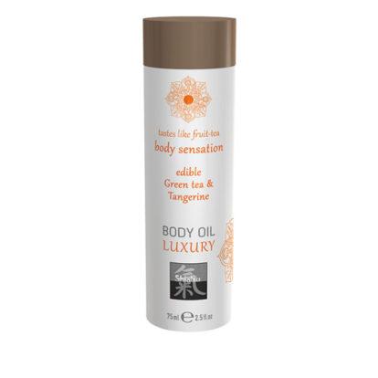 Luxury Body Oil Edible - Green Tea & Tangerine-Shiatsu