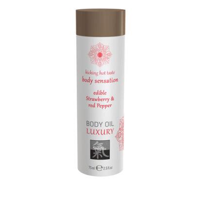 Luxury Body Oil Edible - Strawberry & Red Pepper-Shiatsu