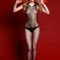 Rimes Catsuit - Black-Rimes Lingerie