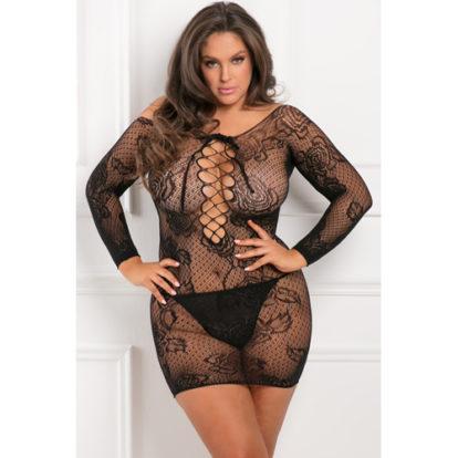 Tie Breaker Dress Plus Size-Rene Rofe
