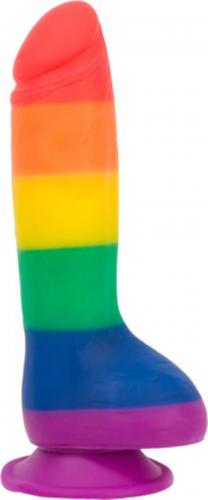 Addiction - Justin Rainbow Silicone Dildo - 20 cm-Addiction