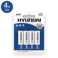 Super Alkaline AA Batteries - 4 pcs-Hyundai