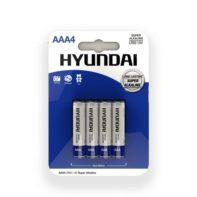 Super Alkaline AAA Batteries - 4 pcs-Hyundai