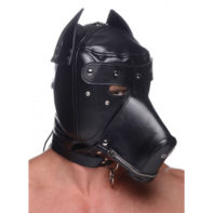 Muzzled Universal BDSM Hood with Removable Muzzle-Master Series