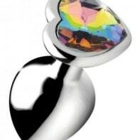 Rainbow Heart Butt Plug - Medium-Booty Sparks