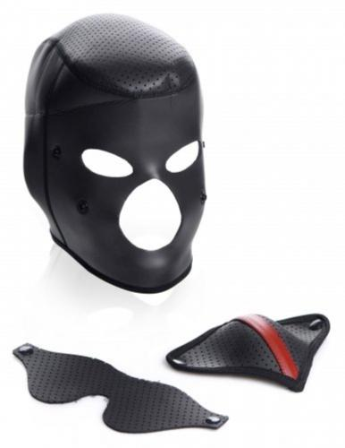 Scorpion Hood With Removable Blindfold And Mouth Mask-Master Series