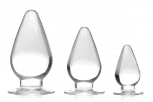 Triple Cones Anal Plug Set Of 3 - Clear-Master Series