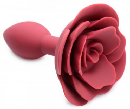 Booty Bloom Silicone Anal Plug With Rose-Master Series