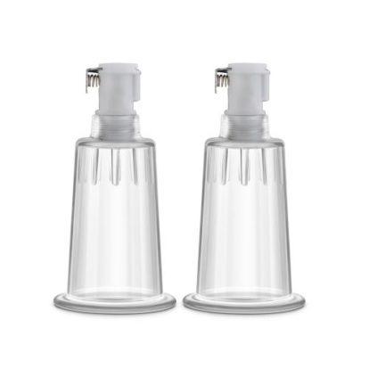Temptasia - Nipple Pumping Cylinders - Set of 2 (1 inch Diameter) - Clear-Temptasia