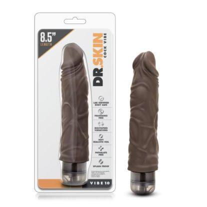 Dr. Skin - Cock Vibe no10 Vibrator - Chocolate-Dr Skin