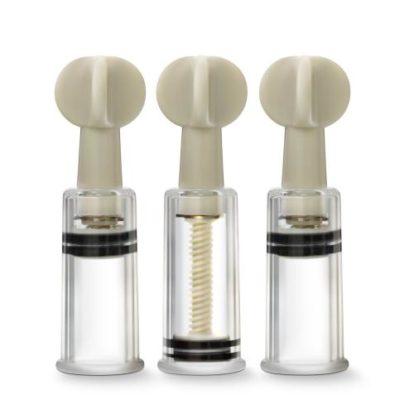 Temptasia - Clit And Nipple Twist Suckers - Set of 3 - Clear-Temptasia