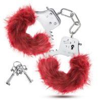 Temptasia - Plush Fur Cuffs - Burgundy-Temptasia