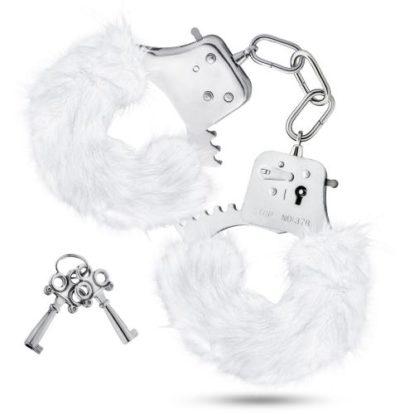 Temptasia - Plush Fur Cuffs - White-Temptasia