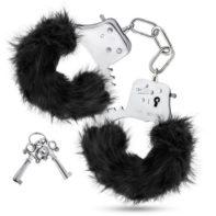 Temptasia - Plush Fur Cuffs - Black-Temptasia
