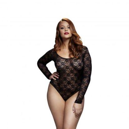 Baci - Lace Bodysuit With Open Back - Curvy-Baci Lingerie