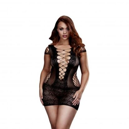 Baci - Sheer Fishnet Dress - Curvy-Baci Lingerie