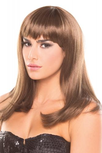 Hollywood Wig - Brown-Be Wicked Wigs