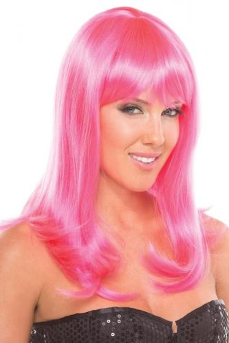 Hollywood Wig - Pink-Be Wicked Wigs