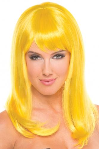 Hollywood Wig - Yellow-Be Wicked Wigs