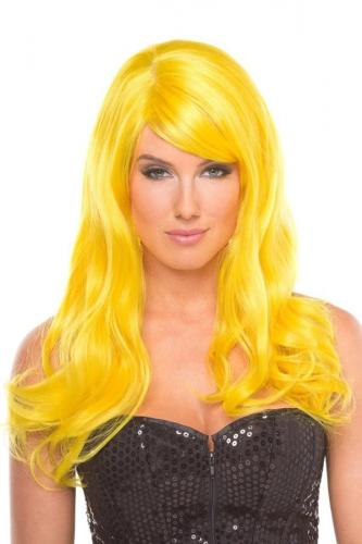 Burlesque Wig - Yellow-Be Wicked Wigs