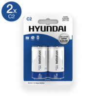 Super Alkaline C Batteries - 2 pcs-Hyundai