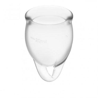 Feel Confident Menstrual Cup - Transparent-Satisfyer