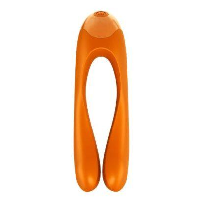 Satisfyer Candy Cane Finger Vibrator - Orange-Satisfyer