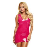 Latex Mini Dress - Pink-LATEXWEAR