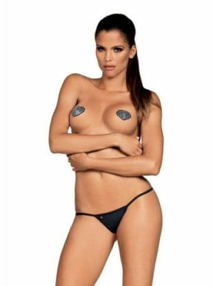 Heart Nipple Stickers With Diamonds-Obsessive