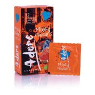 Adore Flavours Condoms - 12 Condoms-Pasante