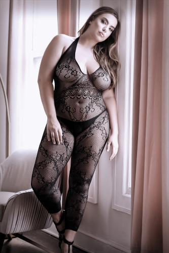 Good As Hell Crotchless Catsuit - Curvy-Sheer Fantasy