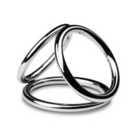 Sinner - Triad Chamber Metal Cock and Ball Ring - Large-Sinner Gear Unbendable
